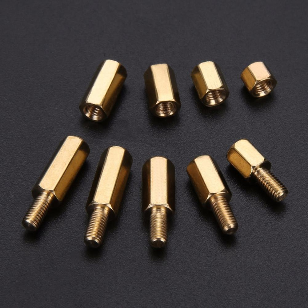 300Pcs Thread 4-12mm Versatile Hex Spacing Pillar Hex Brass Standoff Spacer Screw Pillar PCB Computer PC Motherboard Female Male