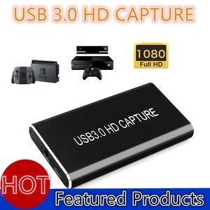 USB Video Capture Card Grabber HDMI to Type-C/USB C/USB 3.0 1080P 60fps Game Adapter with HDMI Loop Output for Windows Linux Os