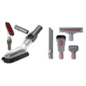 1 Pcs Flexible Anti-Static Brush Soft Dusting Brush & 4 Pcs Replacement Parts Attachments Tools Kit Brush