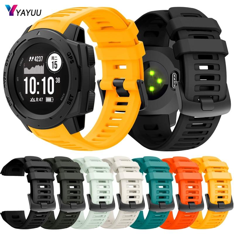 YAYUU Soft Silicone Strap Sport Wristband Replacement for Garmin Instinct Esports/Solar/Tide/Tactical GPS Smartwatch