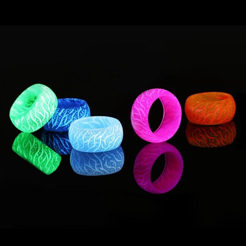 Moda nova tendência de jóias legal crack anel recém-luminoso brilho anel brilhante no escuro jóias unisex decoração para mulher