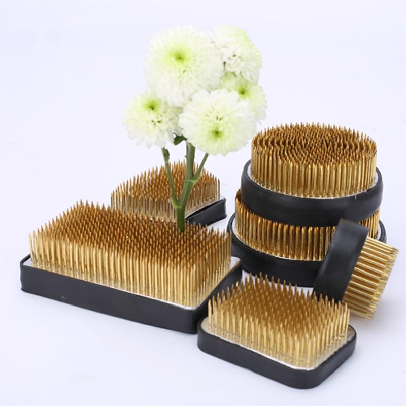 Japan Style Ikebana Kenzan Pin Art Fixed Tools Flower Insert Base Pin  Lead Copper Needle Pin Flower Arrange Tool  Flower Holder