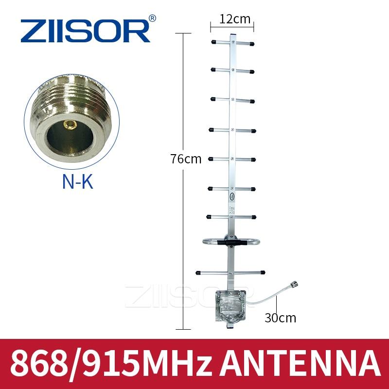868MHz 915MHz Directional Yagi Antenna N Female LoRa Gateway Internet of Things Radio 900M Image Transmission High Gain 9 Unit
