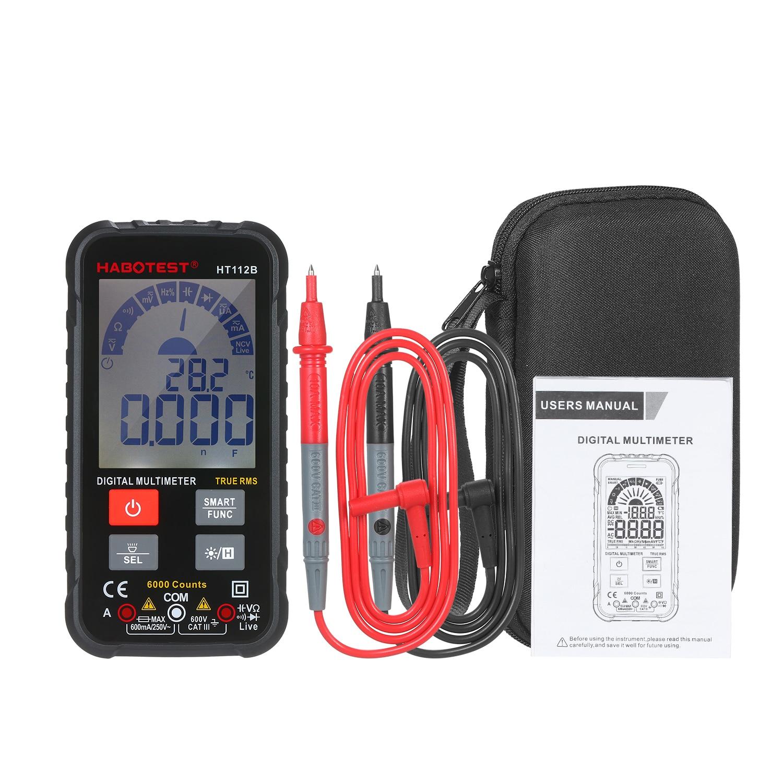 6000 zählt Digital-Multimeter Voltmeter Amperemeter Ohmmeter Tester AC/DC Test Diode Frequenz Kapazität Kontinuität NCV Live Linie