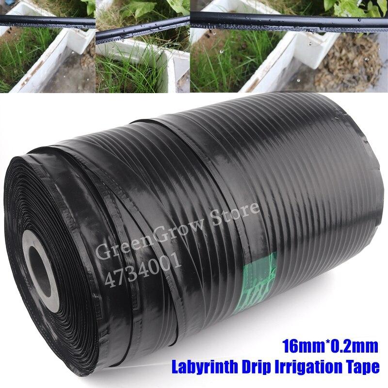 1000 m/rollo 16mm * 0,2mm hoja única riego por goteo de laberinto cinta goteo para agricultura manguera jardín granja ahorro riego agua