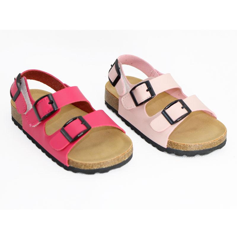صنادل أطفال 2021 الصيف بولي Leather الجلود الفلين الصبي الفتاة حذاء طفل عدم الانزلاق الطلاب داخلي في الهواء الطلق طفل 1-3-12 سنوات