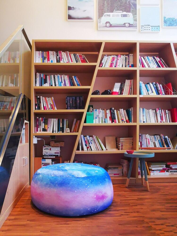Кресло-мешок для одноместной маленькой квартиры, спальни, симпатичная гостиная, напольная подушка для балкона, лежачие татами, кушетки для ...