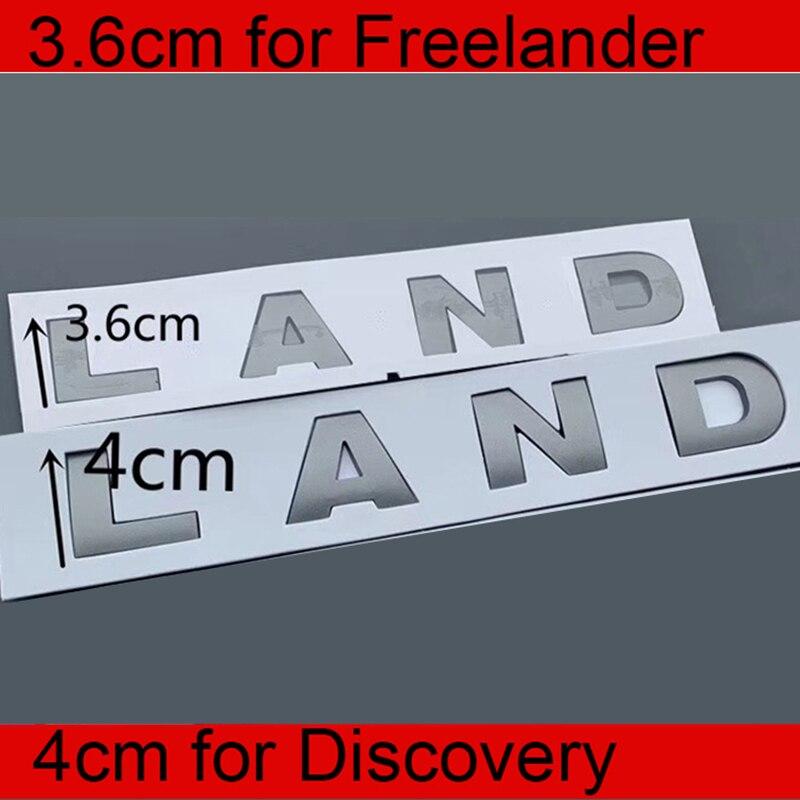 Cinza 3.6cm 4cm letras emblema para land rover freelander 2 3 descoberta estilo do carro remontagem capa tronco logotipo adesivo original