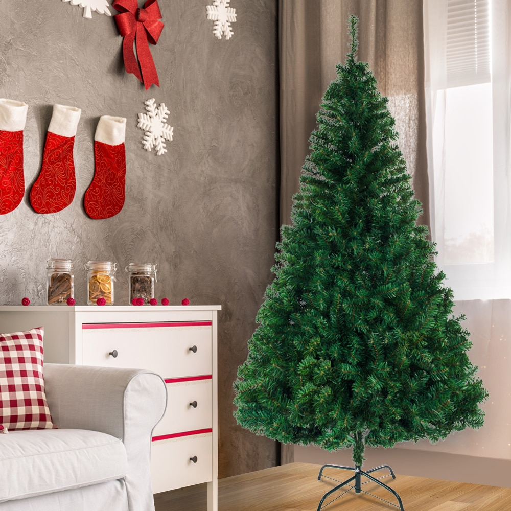 8FT Christmas Tree with 1138 Branches Artificial Encrypted PVC Christmas Big Tree Christmas Decor for Home Party Ornaments