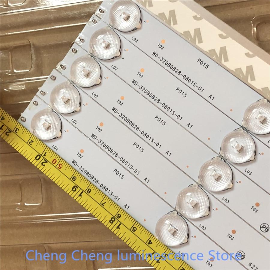 6Pieces/lot   LCD TV backlight bar  7lamp bead   6V 530mm 100% NEW