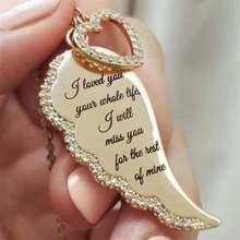 Vintage ange ailes coeur pendentif collier amour bon chanceux Zircon collier chandail chaîne pour les femmes bijoux
