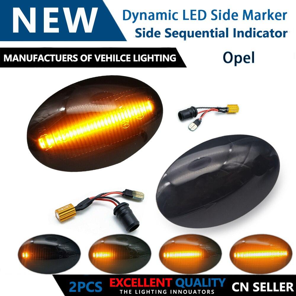 2 stücke Dynamische Seite Marker Lampe Blinker Blinkende LED licht Für Opel Tirgra EINE Meriva A (X03) sintra Sintra Astra F Combo C