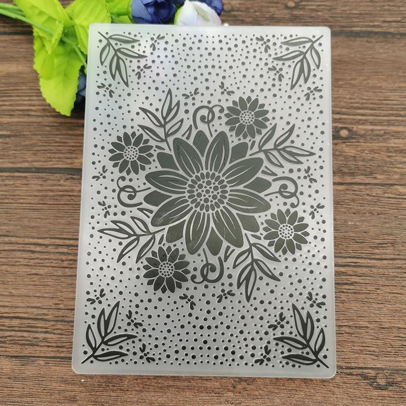 AOKEDIY Flower print DIY Plastic Embossing Folders for DIY Scrapbooking Paper Craft/Card Making Decoration Supplies
