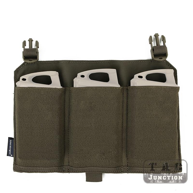 Emerson Tactical Fast Clip Front Pane For 4019 / 4020 Vest Detachable Platebag with Triple M4 Magazine Pouch RANGER GREEN