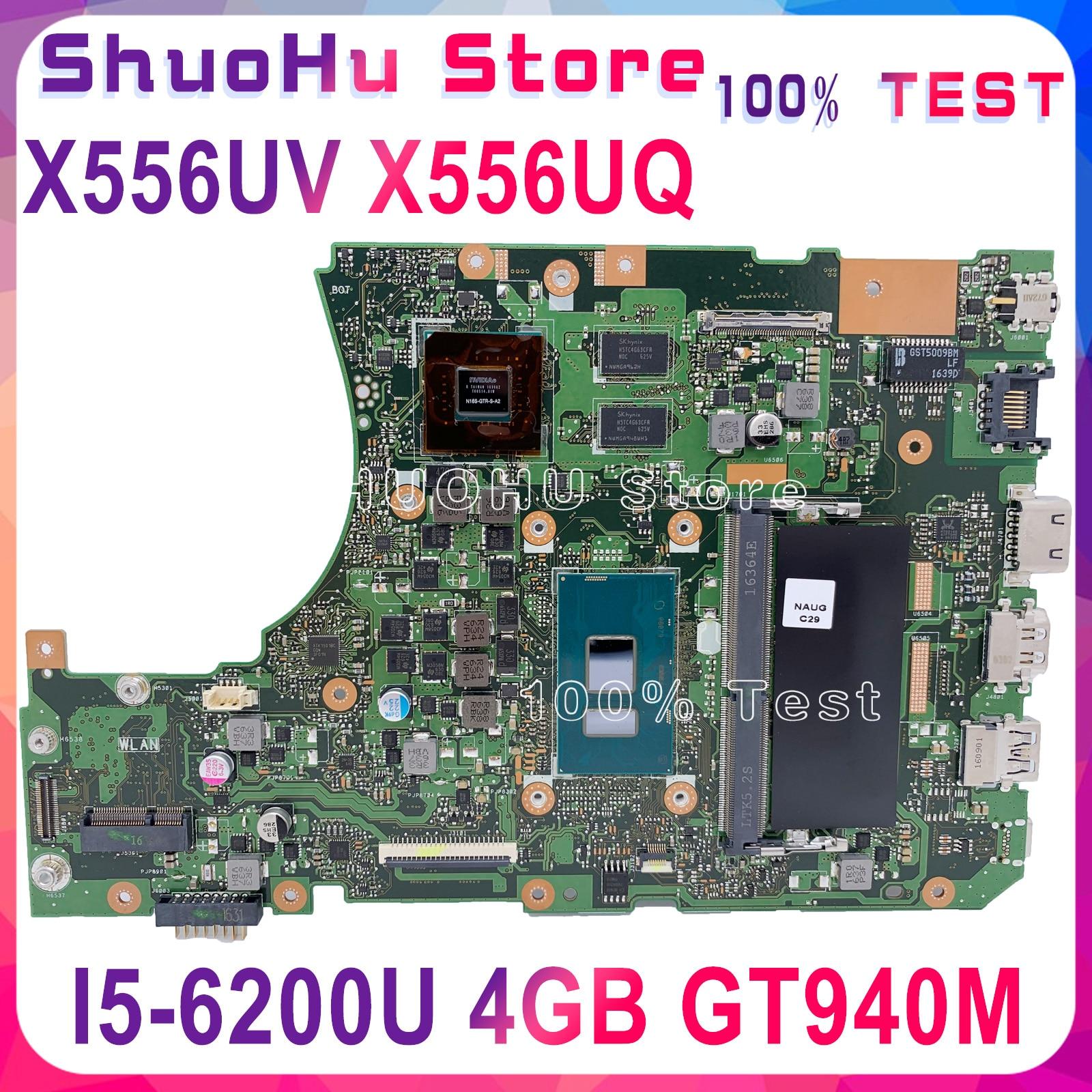 KEFU X556UV for ASUS X556U X556UJ X556UV X556UA X556UQ X556UQK motherboard I5-6200U GT940M DDR4 4GB tested 100% work original