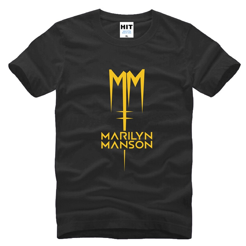 Camiseta con Logo de Marilyn Manson para Hombre, de manga corta Camisa...