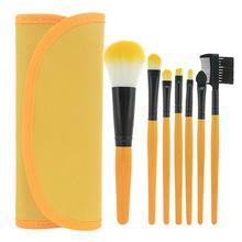 Woman Makeup Brush 7 Pcs/Set Foundation Powder Blush Eyeshadow Lip Brushes Cosmetic Makeup Tool