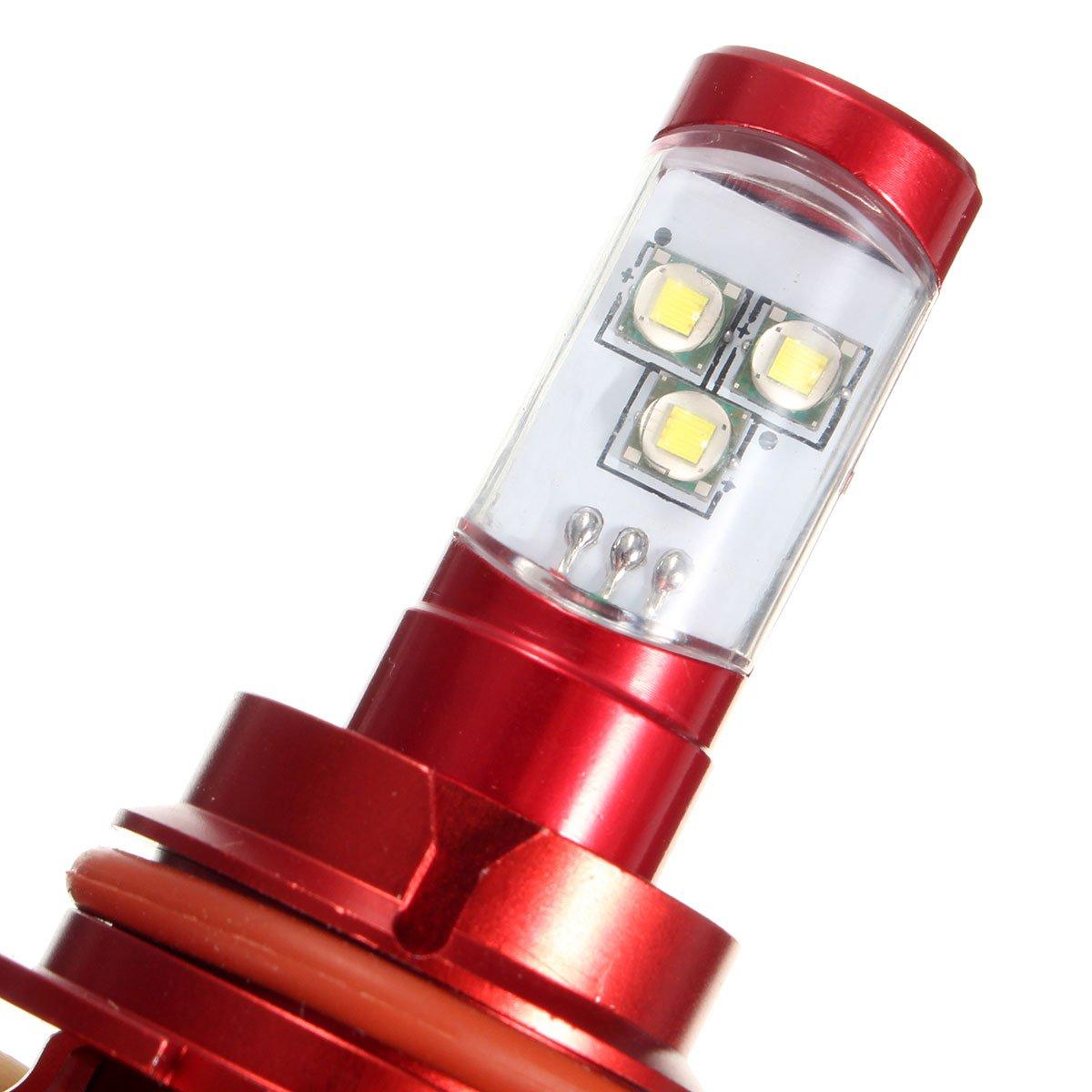 Пара 9007 60 Вт 6000LM 6000 К белый светодиодный светильник для Chevrolet Cobalt для Ford Crown Victoria для Nissan