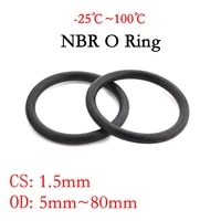 50pc nbr o ring seal gasket thickness cs 1 5mm od 580mm nitrile butadiene rubber spacer oil resistance washer round shape black