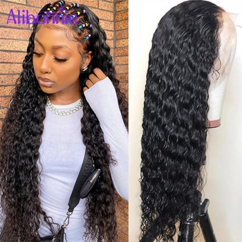 13X6 Water Wave Lace Front Human Hair Wigs for Women 5X5 13x4 HD Transparent Lace Frontal Wig Brazilian Remy Human Hair Wig