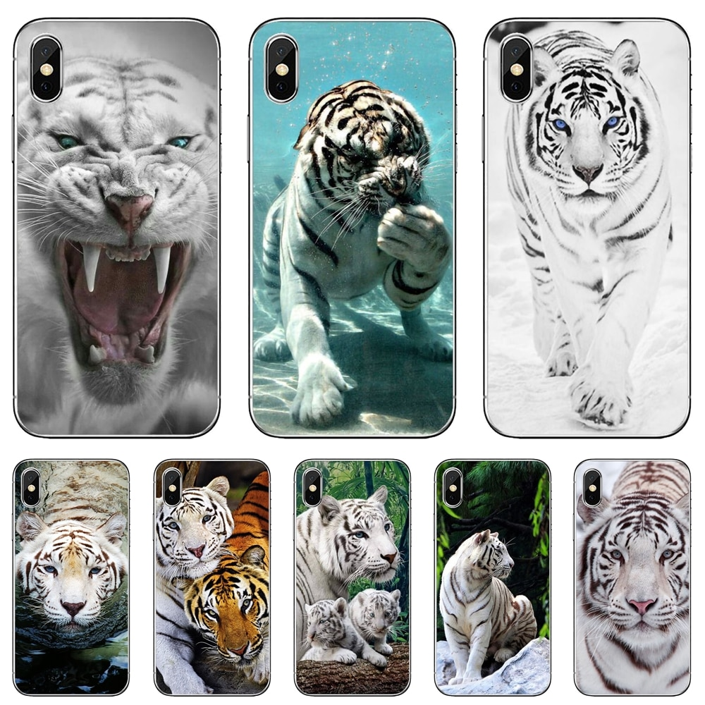 Animal-White-Tiger-Pattern Soft Case Covers For Xiaomi Redmi 2 S2 3 3S 4 4A 5 5A 5 6 6A 7A 9 9T 9C 9