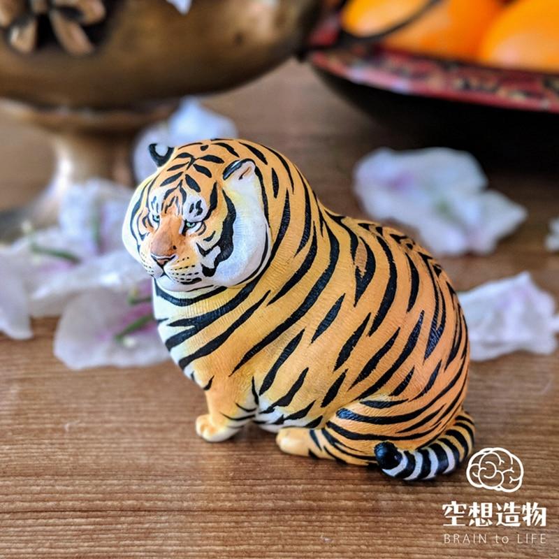 Fat Tiger Genuine Spot Little Zoo Uncle Erma Utopia Utopia Popularity Tide Play Desktop Decoration