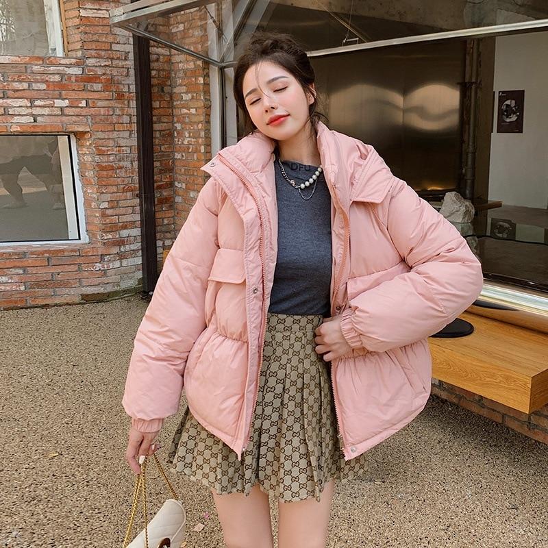 Модное утепленное пальто с капюшоном и подкладкой, новинка 2021, зимние женские свободные парки, куртки, женская зимняя верхняя одежда, парки