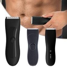 Tagliacapelli elettrico per uomo Groin Trimmer per peli pubici tagliacapelli per toelettatura per uomo Bikini epilatore rasoio ricaricabile rasoio