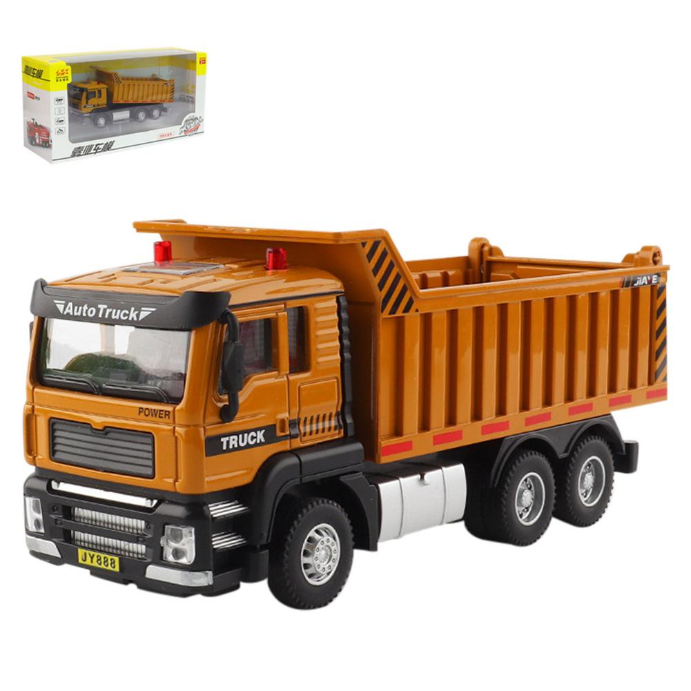 Children's Diecast Alloy Toy Car Engineering Construction Vehicles Dump Truck Model Engineering Vehicle Car Toy For Kids Gift недорого