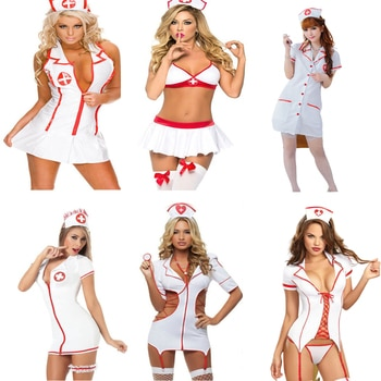 Erotic Nurse Costume For Role Play School Uniform Cosplay Sex Game Clothes Suit Outfit Sexy Lingerie Porno Adult Intimate Goods