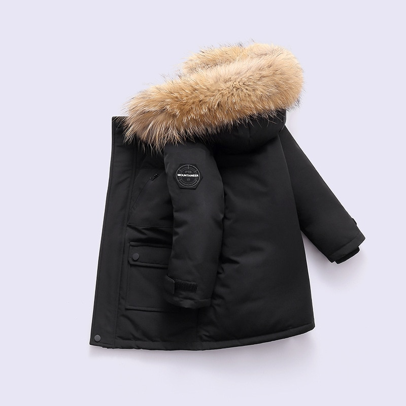 baby boy winter jackets 2018 kids hooded cotton outerwear parka coat clothes for teen boys 5 6 7 8 9 10 11 12 13 14 years old OLEKID 2021 Winter Down Jacket For Boys Real Raccoon Fur Thick Warm Baby Boys Outerwear Coat 2-12 Years Kids Teenage Boys Parka
