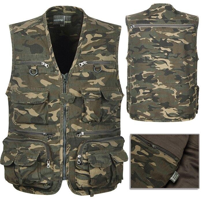 camouflage vest multi pocket spring and summer