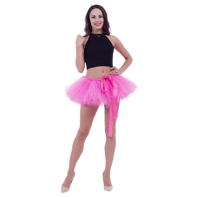 Feminino princesa ballet dança tule tutu saias fita fofo saia saia tutus tutus adulto saias muliticolor undersaias