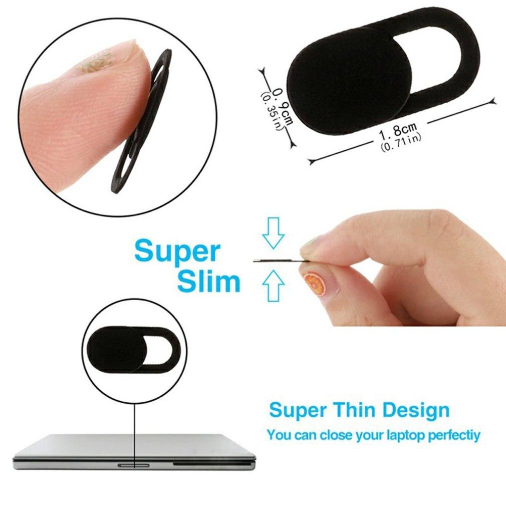 6Pc/lot WebCam Cover Shutter Magnet Slider Plastic for iphone Laptop Camera Web PC Tablet Smartphone