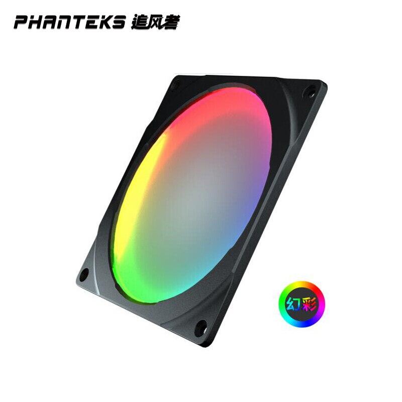 PHANTEKS 5V 120mm Halos RGB Colorful LED Rainbow Color Fan Aperture Compatible With 12cm Fan/Synchronous Motherboard Control