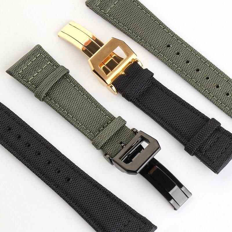 20mm 21mm 22mm Calf Leather Nylon WatchBand for IWC Watch Strap Fabric Mark Pilot Bracelet Belt Webb