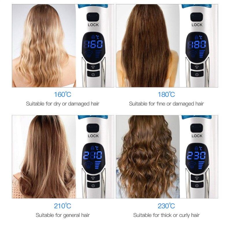Hair Straightener Brush Titanium Ceramic Flat Iron Professional Electric Hair Comb Fast Hair Straightener Brush enlarge