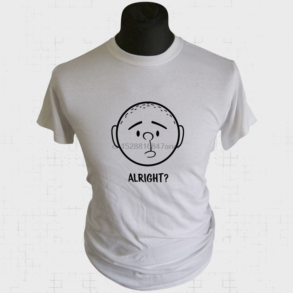 Karl Pilkington bien T camisa Ricky Gervais idiota en el extranjero broma divertida Tee nuevo divertido T camisas Tops camiseta nueva Unisex Tops