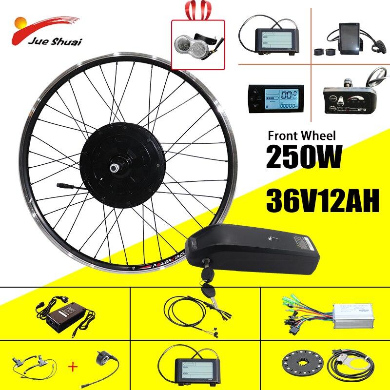 Jueshuai-Kit de conversión de bicicleta eléctrica, Kit de rueda de bicicleta eléctrica...