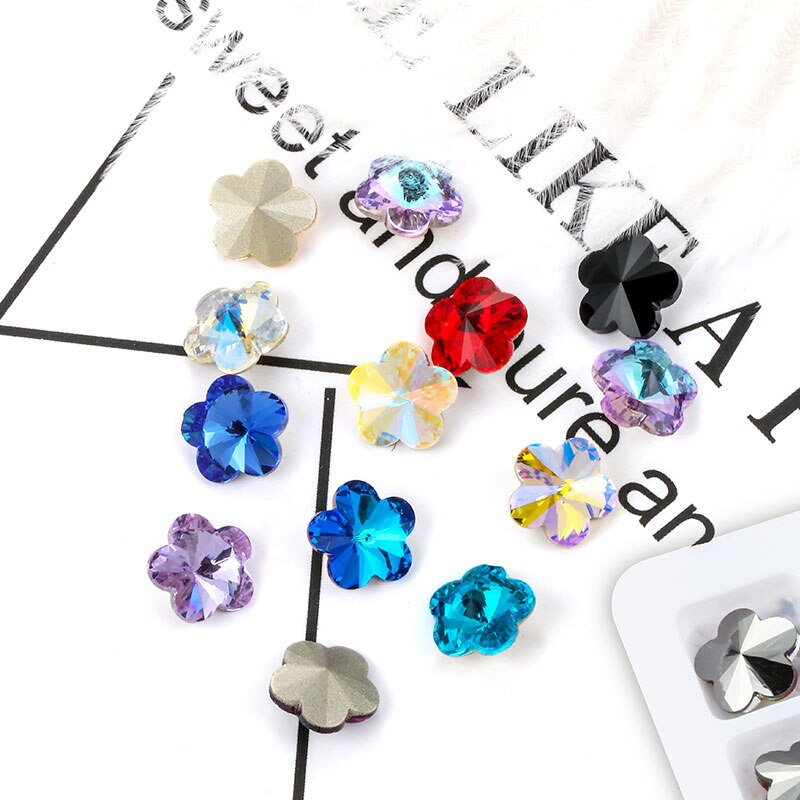 Astrobox High Quality Sew On Rhinestone Crystal Stone DIY Clothing & Accessories K9 10mm Plum Shape Glass Crystal Jewelry