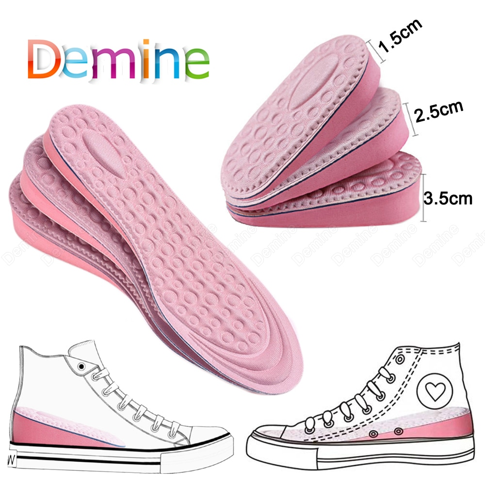 10 pair deodorant insoles for shoes women men soft breathable sport shoe sole inserts health care foot massager comfort shoe pad Demine Height Increase Shoe Insoles for Women Comfort Eva Memory Foam Shoes Sole Inserts Foot Heel Lift Pad Heightening Insoles