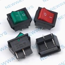 5 sztuk/partia 25mm * 31mm 4Pin 2 stragany ze światłem KCD4-202 przełącznik Rocker przełącznik zasilania czerwony/zielony