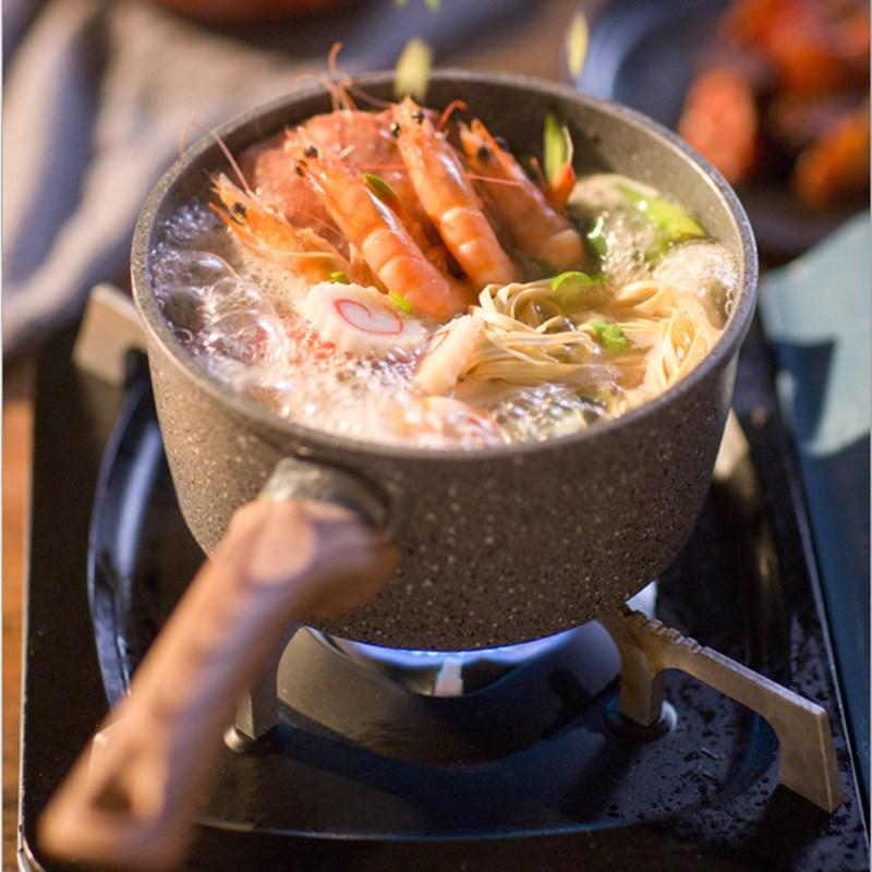 16 سنتيمتر Maifanshi قدر للحليب (لبّانة) غير عصا وعاء الطفل المكملات الغذائية وعاء هدية المأكولات البحرية حار عموم الحساء عموم لوازم المطبخ