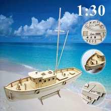 Ensemble de bateau en bois, ensemble Nurkse, jouet, Puzzle, modèle de voile, cadeau de bateau pour enfants et adultes, 1/30