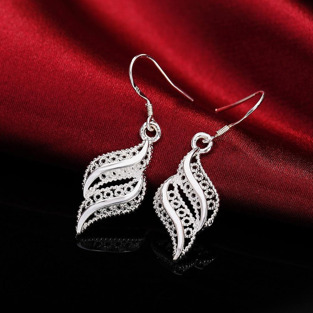 Горячая-распродажа-высокое-качество-925-стерлингового-серебра-цветы-серьги-в-виде-листиков-Модные-женские-вечерние-ювелирные-изделия-рожде