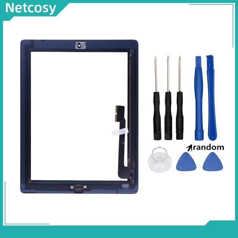 Piezas de reparación de Panel digitalizador de pantalla táctil de cristal Netcosy para ipad 3 A1403 A1416 A1430 Tablet pantalla táctil para ipad 3