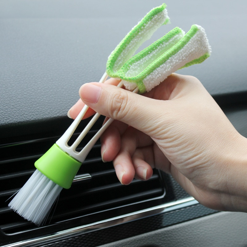New Arrival Durable 2 In 1 Car Air-Conditioner Outlet Cleaning Tool Multi-purpose Dust Brush Car Interior Multi-purpose Brush