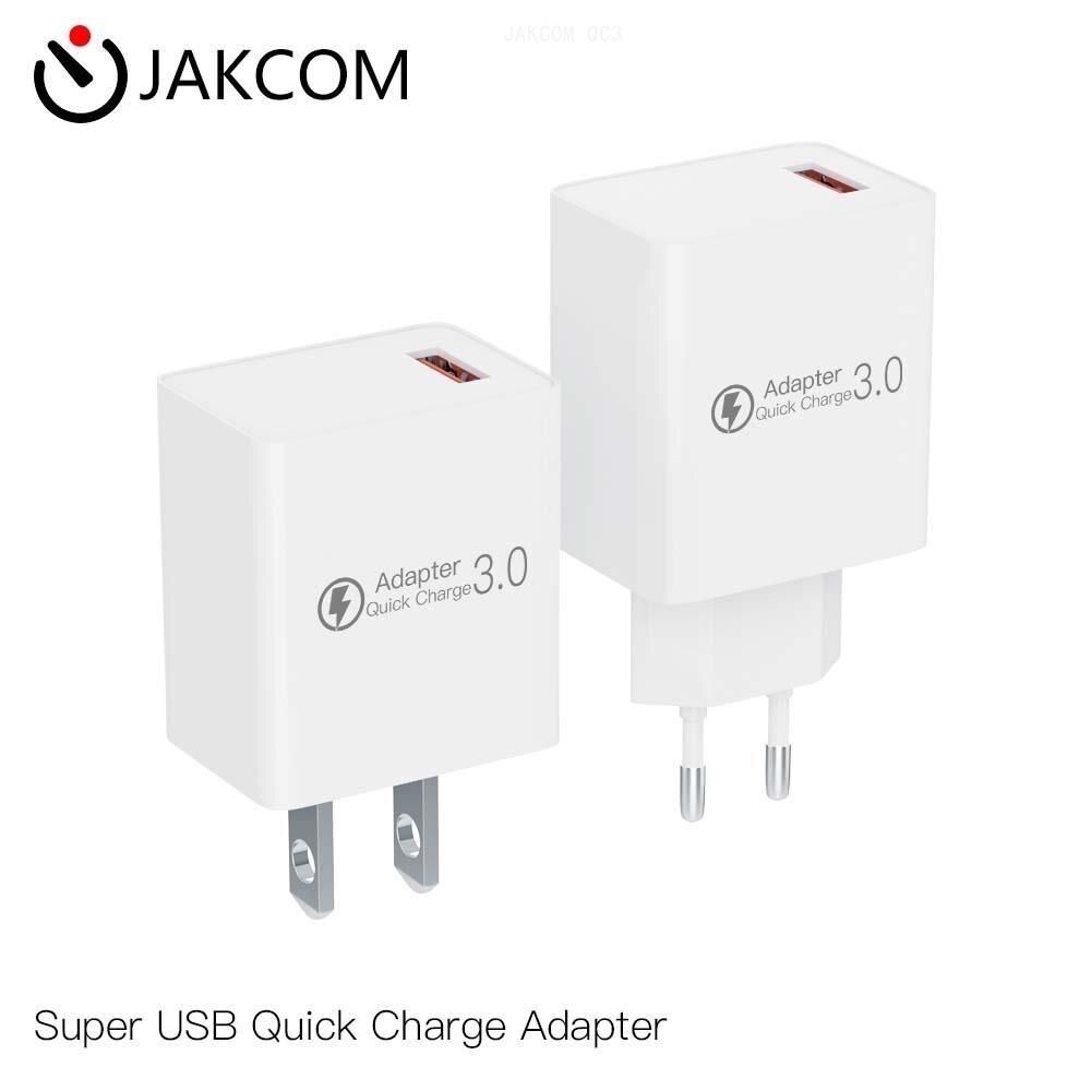 Adaptador de carga rápida JAKCOM QC3 super-USB mejor que los cargadores inalámbricos 10 lite chang li cargador portátil de coche eléctrico
