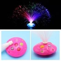 Цветной СВЕТОДИОДНЫЙ ночной Светильник из волокна, светящиеся игрушки, романтический оптический Ночной светильник, мигающий светильник дл...