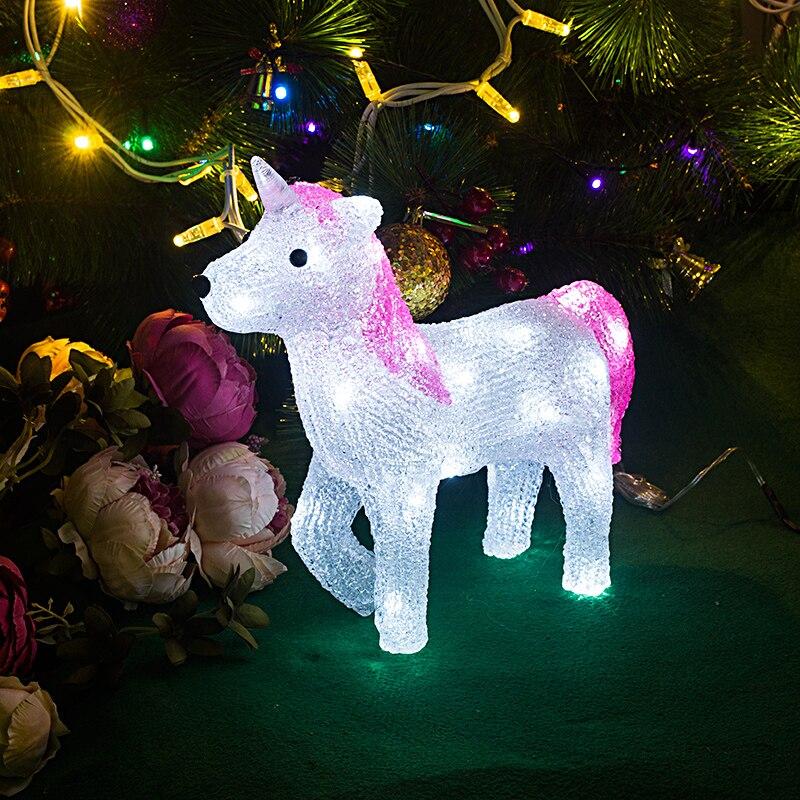 Toprex 3D Unicorn led lights decoration christmas tree lights led navidad wedding decoration gift
